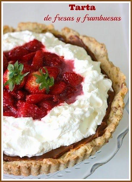 Tarta-de-fresas-y-frambuesas